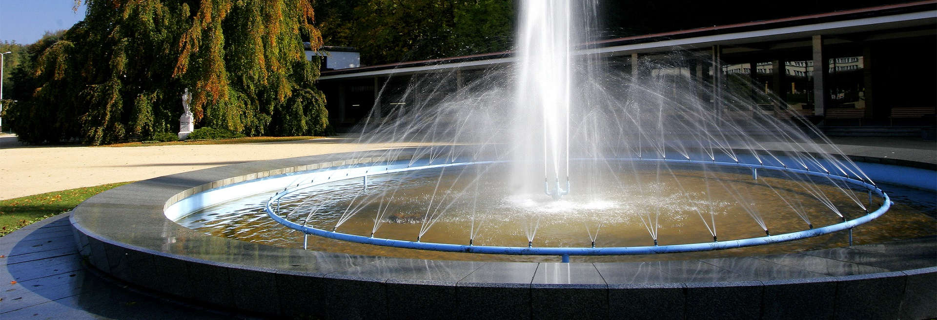 Fountain in spa town Luhačovice